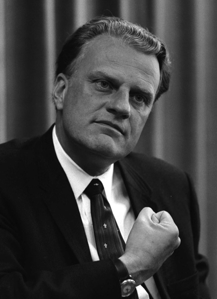 This is an image of Reverend Billy Graham in 1966.