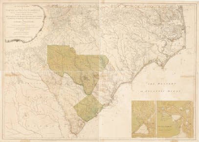 Image of 1775 Indian Frontiers map in North and South Carolina