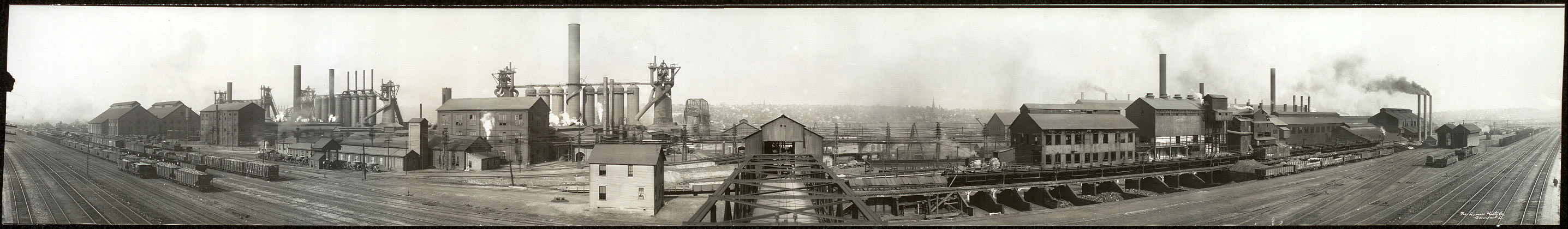 Panoramic photo of the Ohio Works of the Carnegie Steel Company