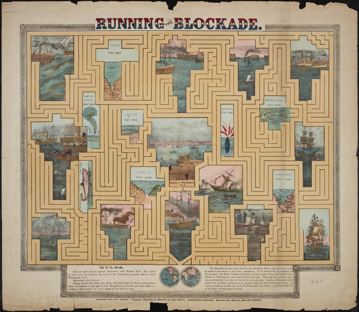 Running the Blockade Board Game, courtesy of UNC Libraries.