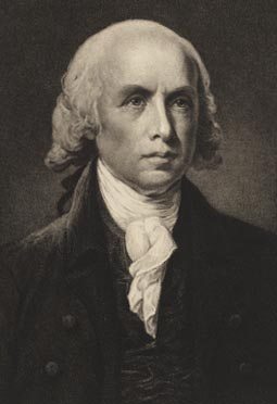 This is a 1911 etching of James Madison from the National Portrait Gallery, Smithsonian Institution, gift of Oswald D. Reich