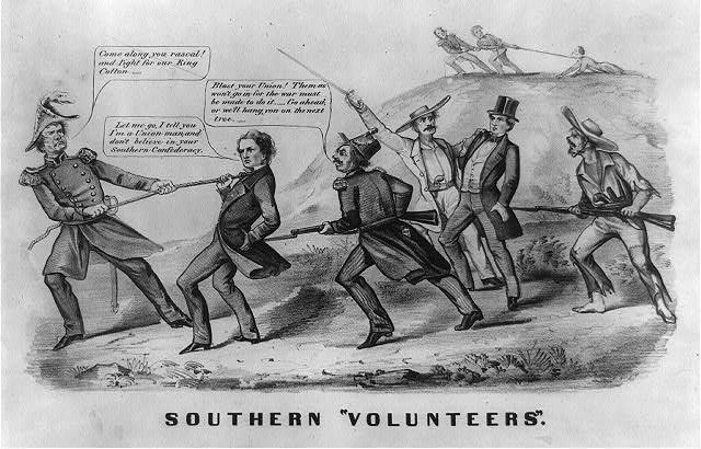 Civil War Conscription Cartoon