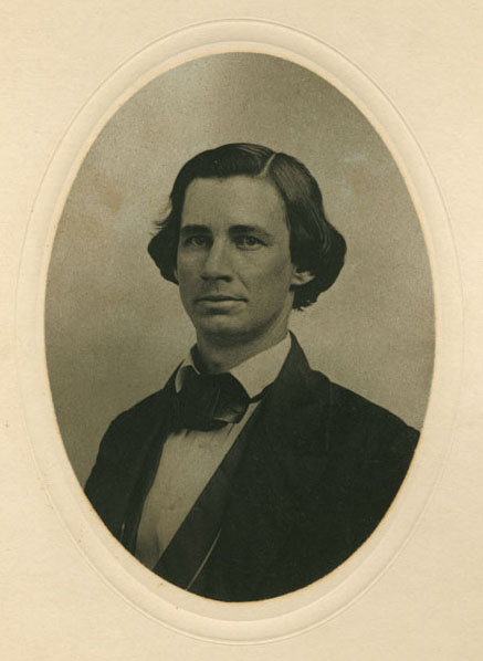An 1857 photograph of Benjamin Hedrick.