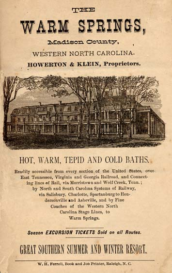 Advertisement for Warm Springs Hotel