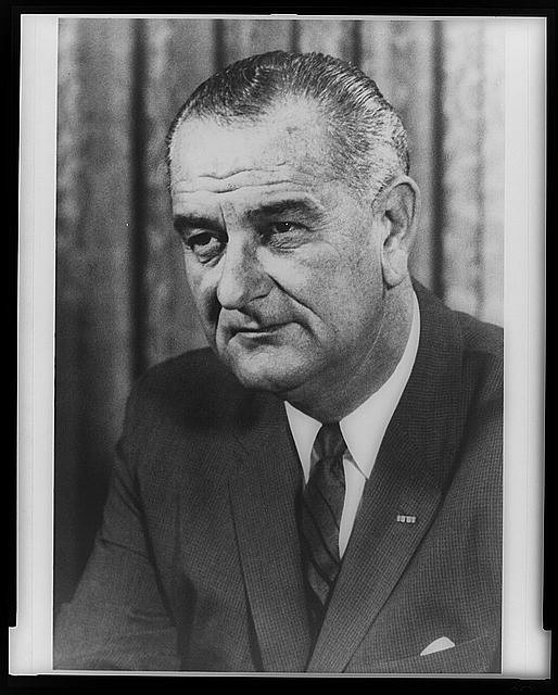Portrait photograph of Lyndon Baines Johnson, 36th president of the United States.