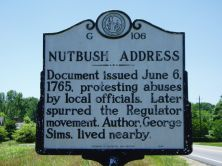 NC Historic Highway Marker image for the Nutbush Address