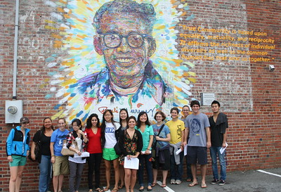 Image of the Pauli Murray mural on Foster Street in Durham, N.C.