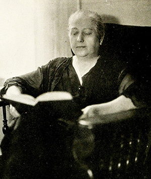 A photograph of Lula Verlinda Martin McIver, circa 1921. Image from Archive.org.