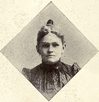A photograph of Carrie Houghton Ihrie, Mrs. Edward W. Pou, published in 1908. Image from the Internet Archive.