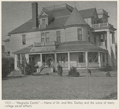 The Dudley's Home, Magnolia Castle, courtesy of F. D. Bluford Library Archives, North Carolina Agricultural and Technical State University.