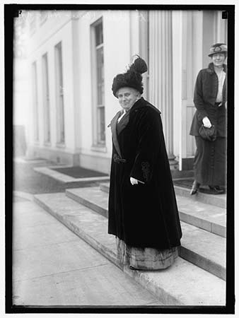Photograph of Dr. Anna Howard Shaw, President of the National American Women Suffrage Association, 1914. From the Harris & Ewing Collection, Library of Congress Prints and Photographs Online Catalog.
