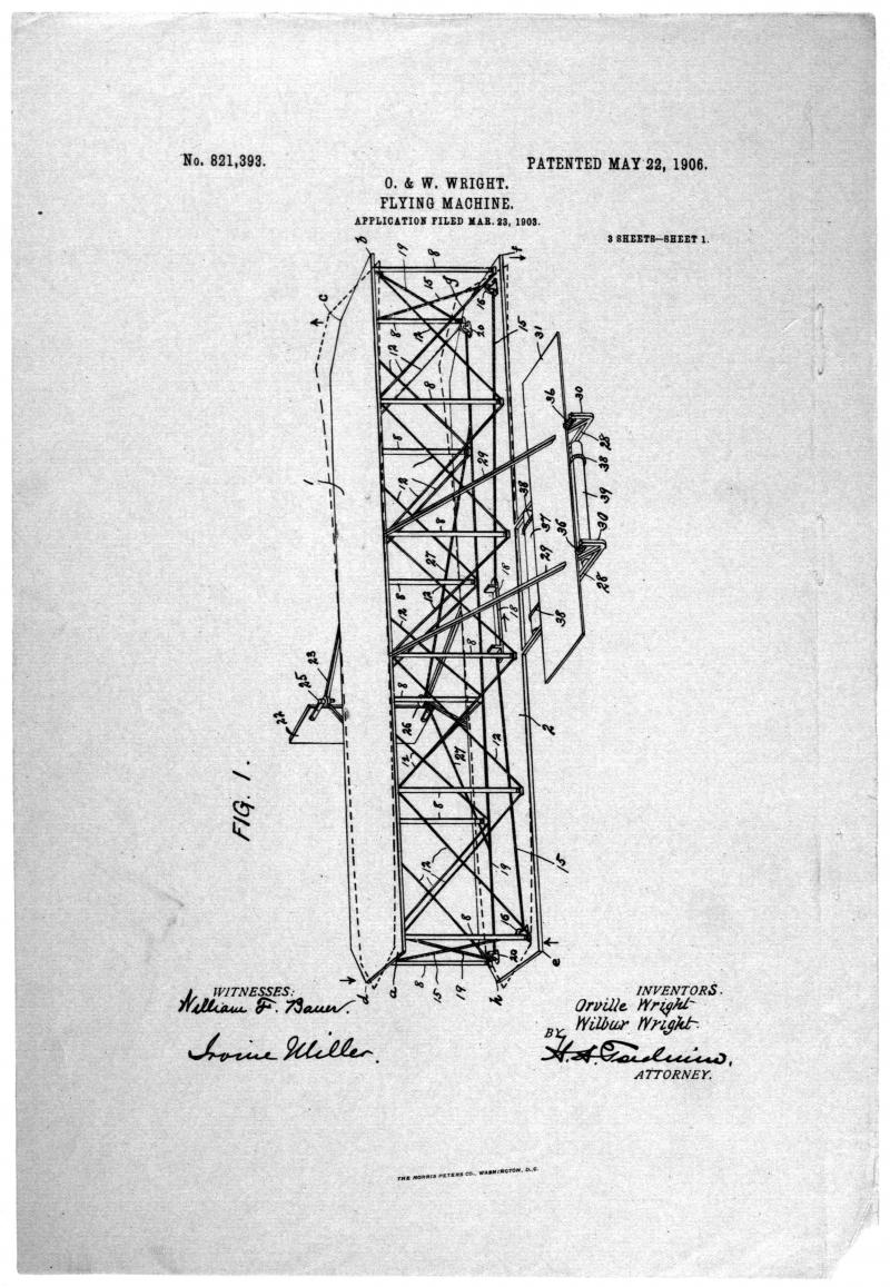Diagram from wright brothers patent application ncpedia public domain ccuart Images