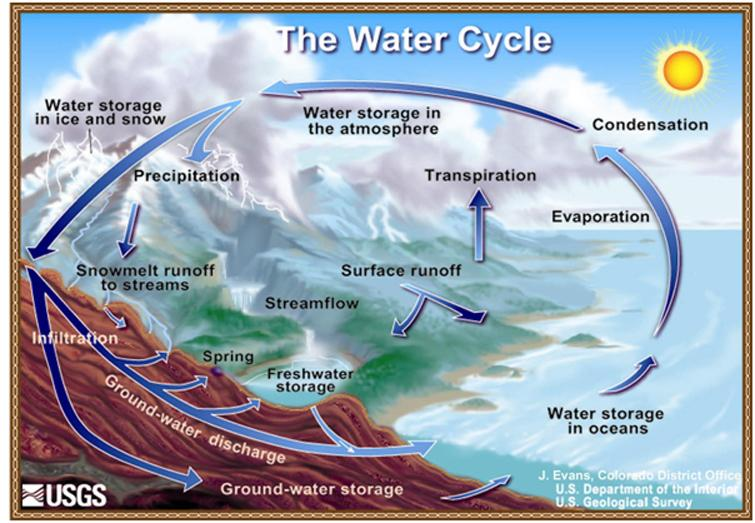 Diagram of the water cycle ncpedia all rights reserved ccuart Image collections