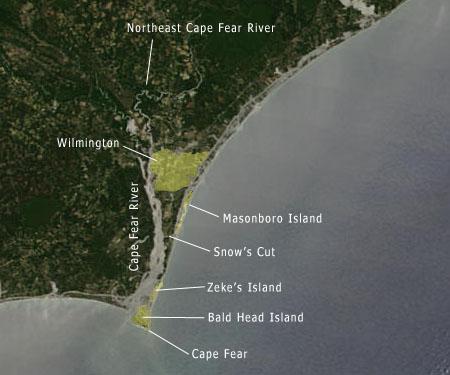 "<img typeof=""foaf:Image"" src=""http://statelibrarync.org/learnnc/sites/default/files/images/NC_coast_sat_BHI.jpg"" width=""450"" height=""375"" alt=""Map/Satellite Image of the North Carolina coast-Bald Head Island"" title=""Map/Satellite Image of the North Carolina coast-Bald Head Island"" />"
