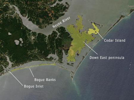 "<img typeof=""foaf:Image"" src=""http://statelibrarync.org/learnnc/sites/default/files/images/NC_coast_sat_cedar_isld.jpg"" width=""450"" height=""336"" alt=""Map/Satellite Image of the North Carolina coast-Cedar Island"" title=""Map/Satellite Image of the North Carolina coast-Cedar Island"" />"