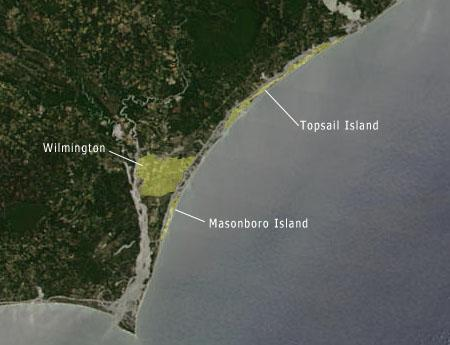 "<img typeof=""foaf:Image"" src=""http://statelibrarync.org/learnnc/sites/default/files/images/NC_coast_sat_topsail_masonboro.jpg"" width=""450"" height=""345"" alt=""Map/satellite of the NC coast-Topsail and Masonboro Island"" title=""Map/satellite of the NC coast-Topsail and Masonboro Island"" />"