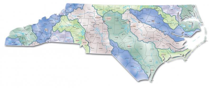 Rivers Of North Carolina Map Map of North Carolina river basins | NCpedia