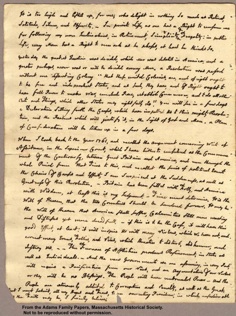 """<img typeof=""""foaf:Image"""" src=""""http://statelibrarync.org/learnnc/sites/default/files/images/adams_your_favor_p2.jpg"""" width=""""1320"""" height=""""1767"""" alt=""""Letter from John Adams to Abigail Adams, 3 July 1776 """" title=""""Letter from John Adams to Abigail Adams, 3 July 1776"""" />"""