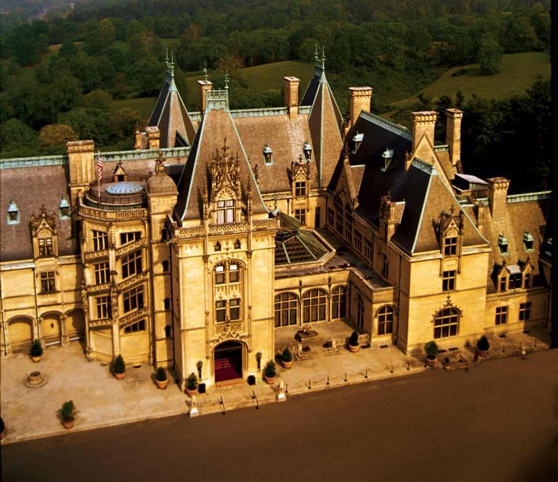 Aerial view of Biltmore Mansion