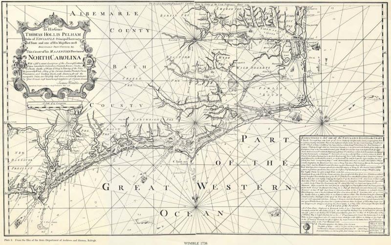 "<img typeof=""foaf:Image"" src=""http://statelibrarync.org/learnnc/sites/default/files/images/albemarle1.jpg"" width=""1200"" height=""751"" alt=""1738 map of North Carolina"" title=""1738 map of North Carolina"" />"