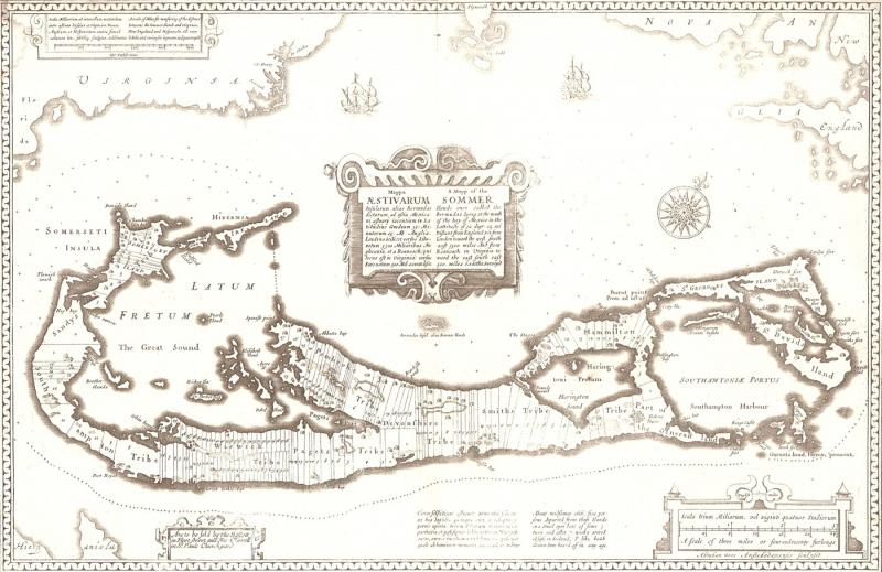 John Speed\'s 1676 map of Bermuda | NCpedia