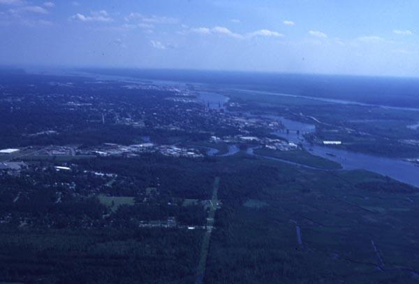 Zero salinity area of the North East Cape Fear River