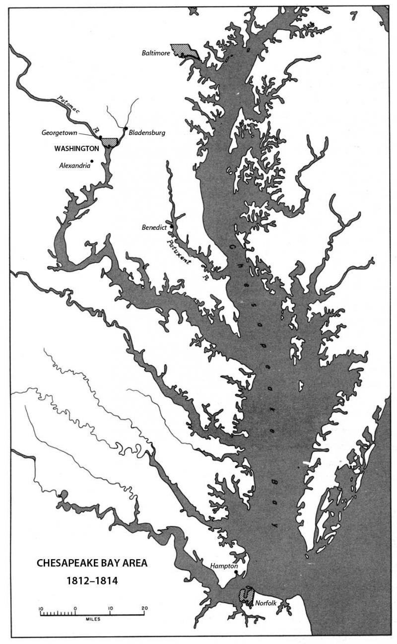 Chesapeake Bay Area 1812 1814 Ncpedia Not all stations depicted are operated by the national data buoy center. chesapeake bay area 1812 1814 ncpedia