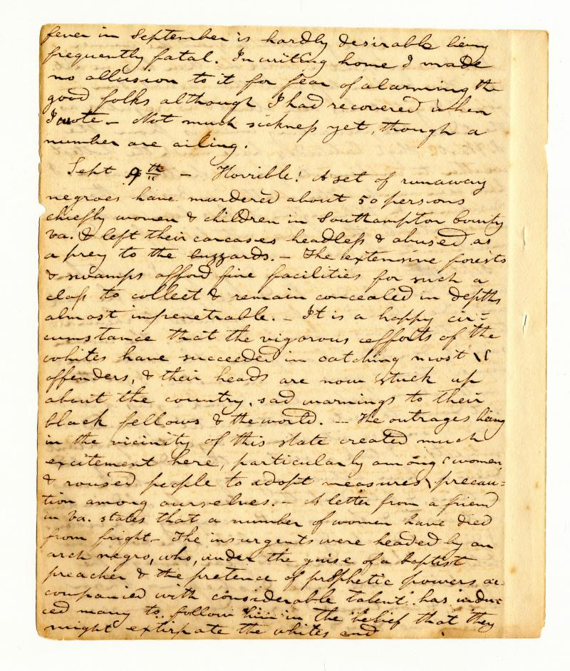 Moses Ashley Curtis diary, September 1831 (page 1 of 7)