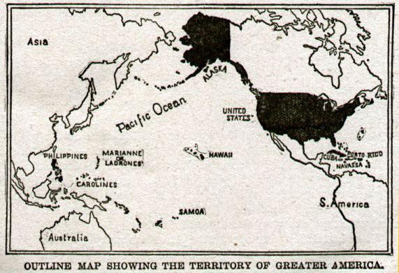 Map of Greater America, 1899