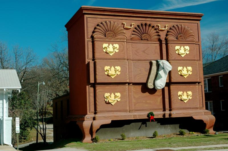 Attirant A Larger Dresser, One Almost 80 Feet High, Was Built Fairly Recently At A  Furniture Factory In High Point.