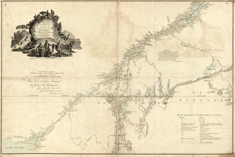Map Of Canada United States Border.1777 Map Canadian United States Border Ncpedia