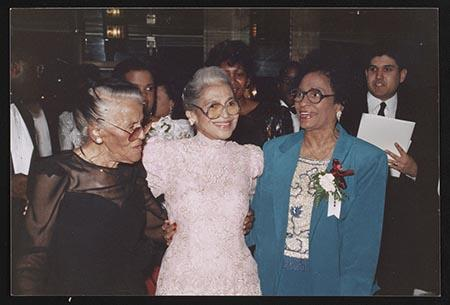 Everee McCauley Ward, Rosa Parks and Daisy Bates at the Kennedy Center Birthday tribute to Mrs. Parks, Washington, D.C. (1990)
