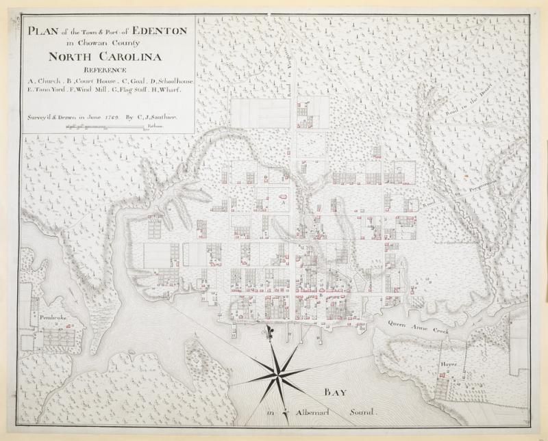 Plan of the Town & Port of Edenton in Chowan County