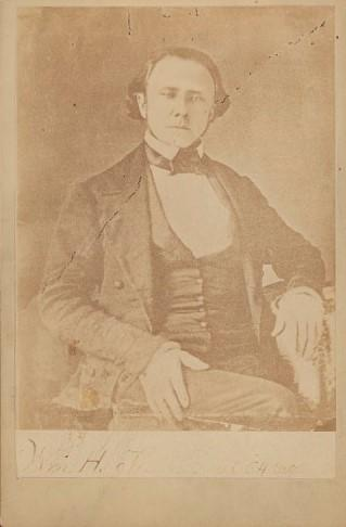 Portrait of William Holland Thomas, adopted son of Cherokee Chief Yonaguska, taken in 1858.