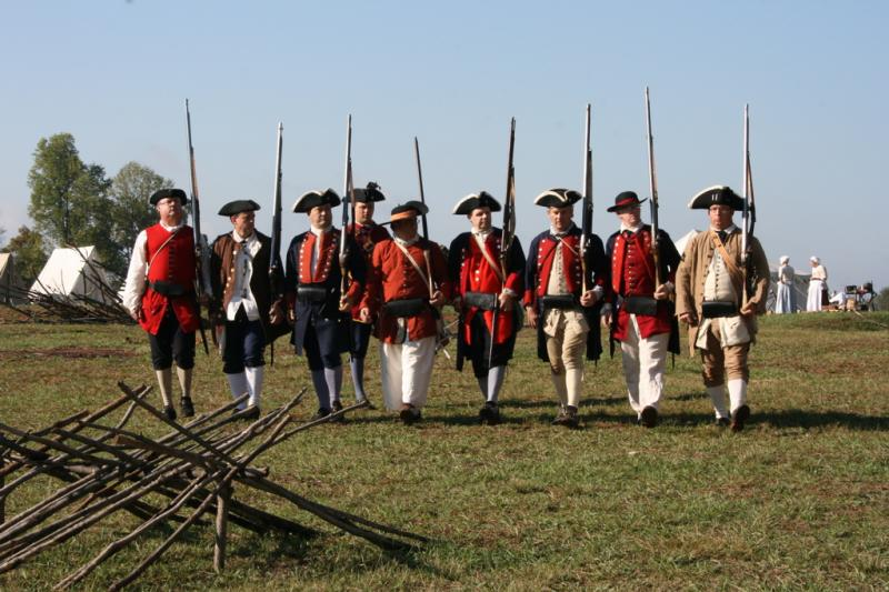Provincial soldiers at  Fort Dobbs