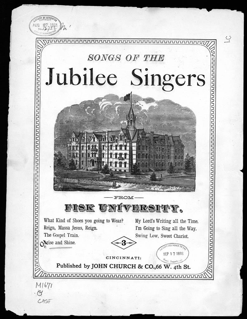 Fisk Jubilee Singers sheet music folio