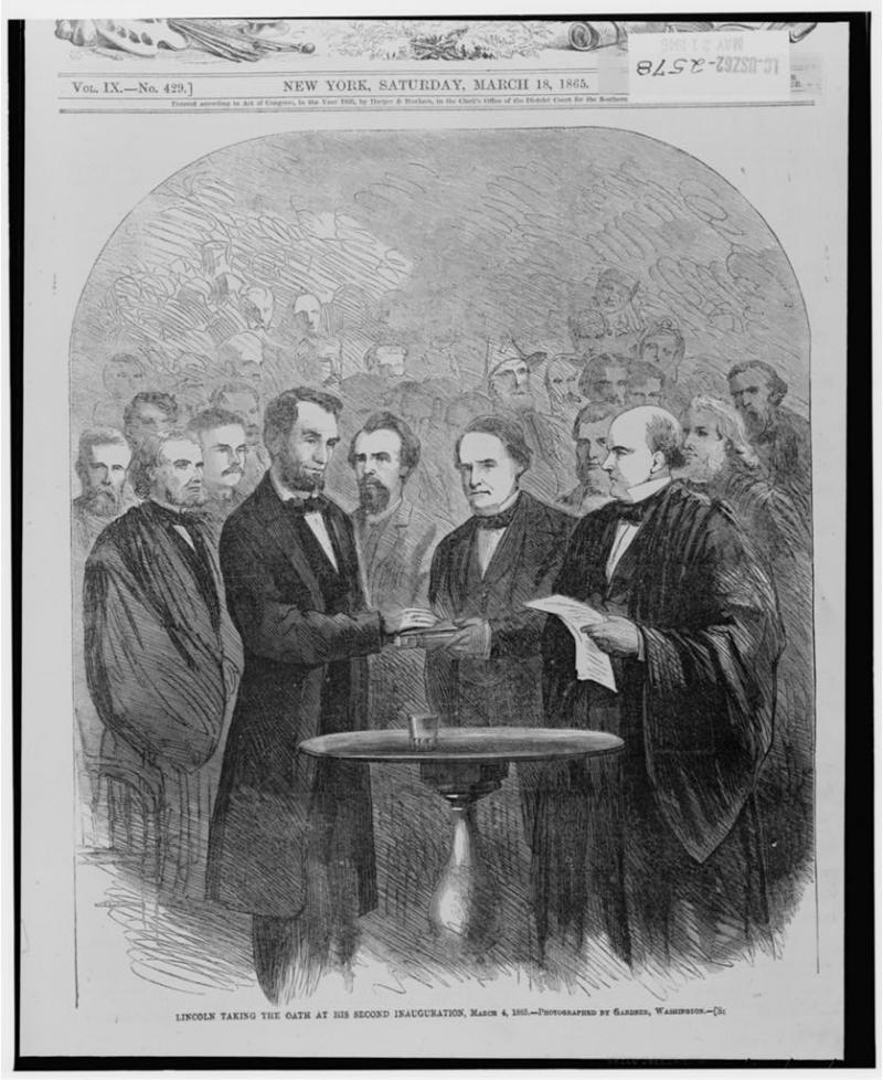 """<img typeof=""""foaf:Image"""" src=""""http://statelibrarync.org/learnnc/sites/default/files/images/lincoln_illustration.jpg"""" width=""""838"""" height=""""1024"""" alt=""""Lincoln's second inauguration, March 4, 1865"""" title=""""Lincoln's second inauguration, March 4, 1865"""" />"""