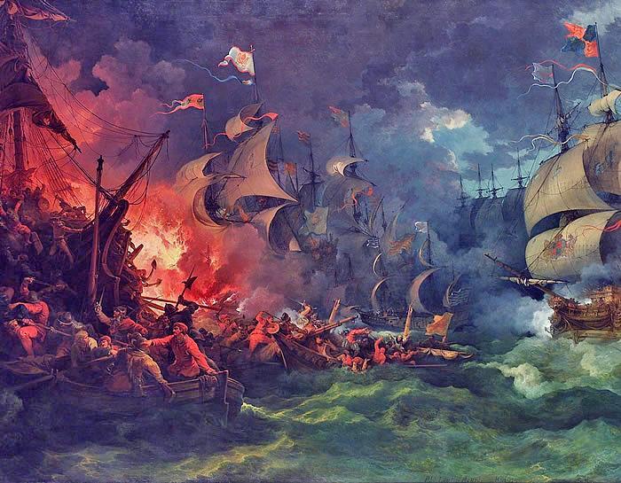 Defeat of the Spanish Armada, 8 August 1588   NCpedia
