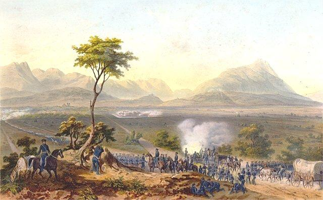 Mexican-American War lithograph