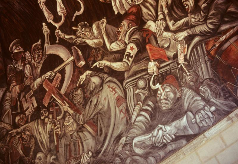 Orozco Mural In Guadalajara Mexico Ncpedia