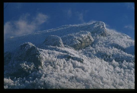 Grandfather Mountain in the snow