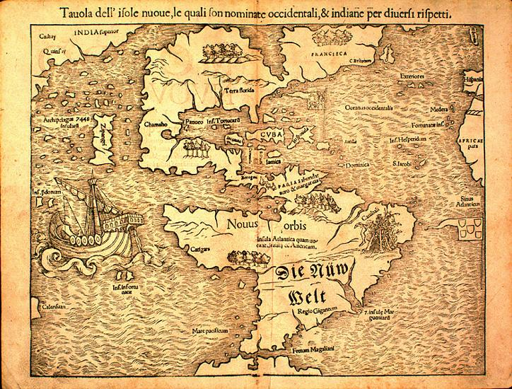 Map of the New World 1540 NCpedia