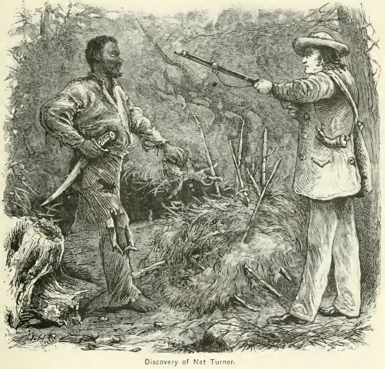 Discovery of Nat Turner wood engraving