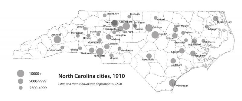 North Carolina cities, 1910 | NCpedia