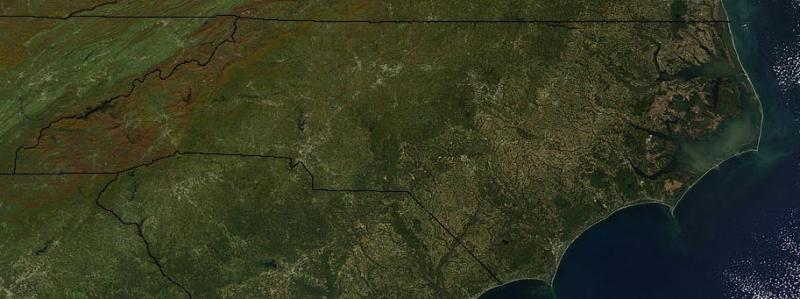 Satellite image of North Carolina