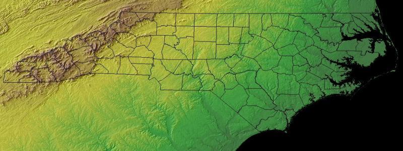 North Carolina Topographic Map Ncpedia