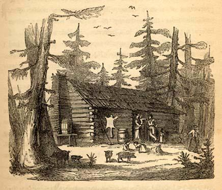 """<img typeof=""""foaf:Image"""" src=""""http://statelibrarync.org/learnnc/sites/default/files/images/olmsted349.jpg"""" width=""""436"""" height=""""375"""" alt=""""A log house in the woods of antebellum North Carolina"""" title=""""A log house in the woods of antebellum North Carolina"""" />"""