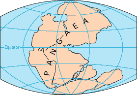 Map of the contentents through geologic time