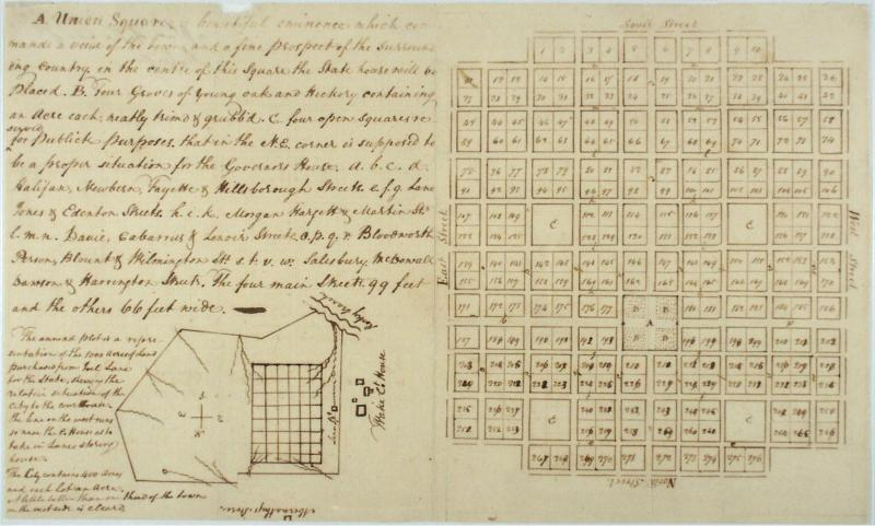 William Christmas' plan for Raleigh, 1792