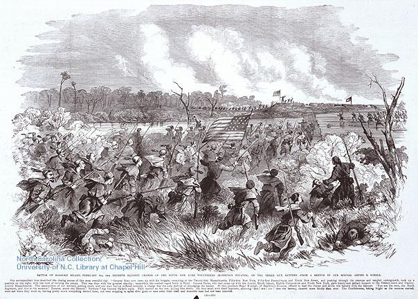 "<img typeof=""foaf:Image"" src=""http://statelibrarync.org/learnnc/sites/default/files/images/roanokeisland.jpg"" width=""604"" height=""432"" alt=""Battle of Roanoke Island"" title=""Battle of Roanoke Island"" />"